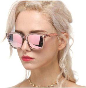 Myiaur Fashion Sunglasses for Women Polarized Driving Anti Glare